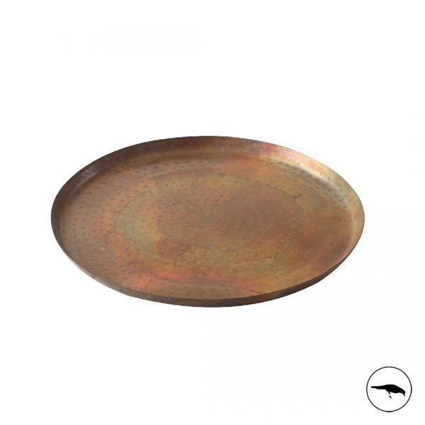 decorative iron copper tray centre piece or serving tray textured