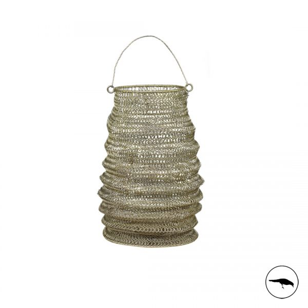 entwined wire mesh lantern rustic gold bronze candle holder decorative charming cosy