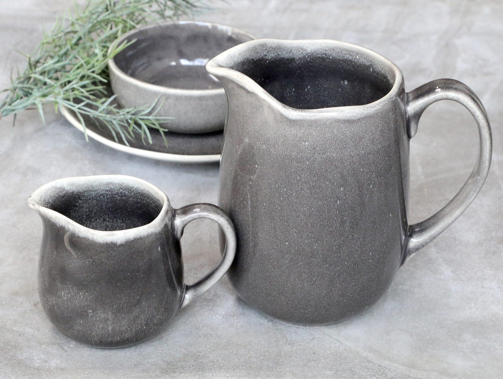 stone grey jug, mottled unique